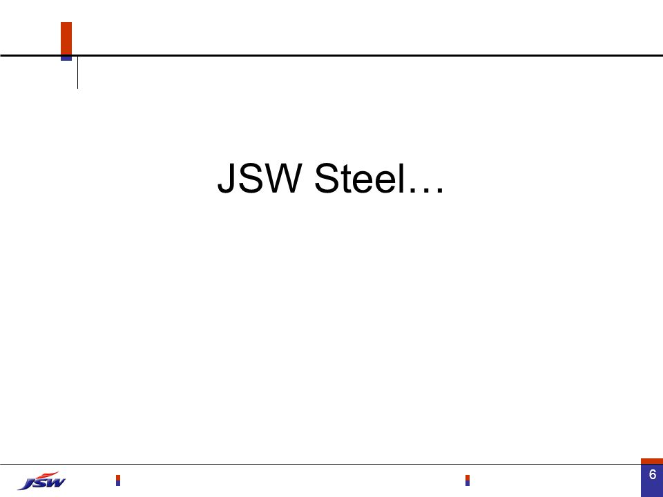 7 Million ton JSW Steel - Capacity Capacity to increase from 2.5 to 7 mtpa in 3 years