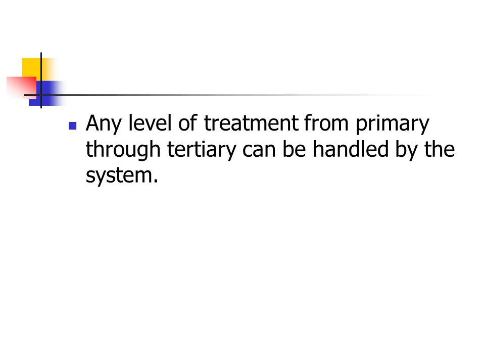 Any level of treatment from primary through tertiary can be handled by the system.