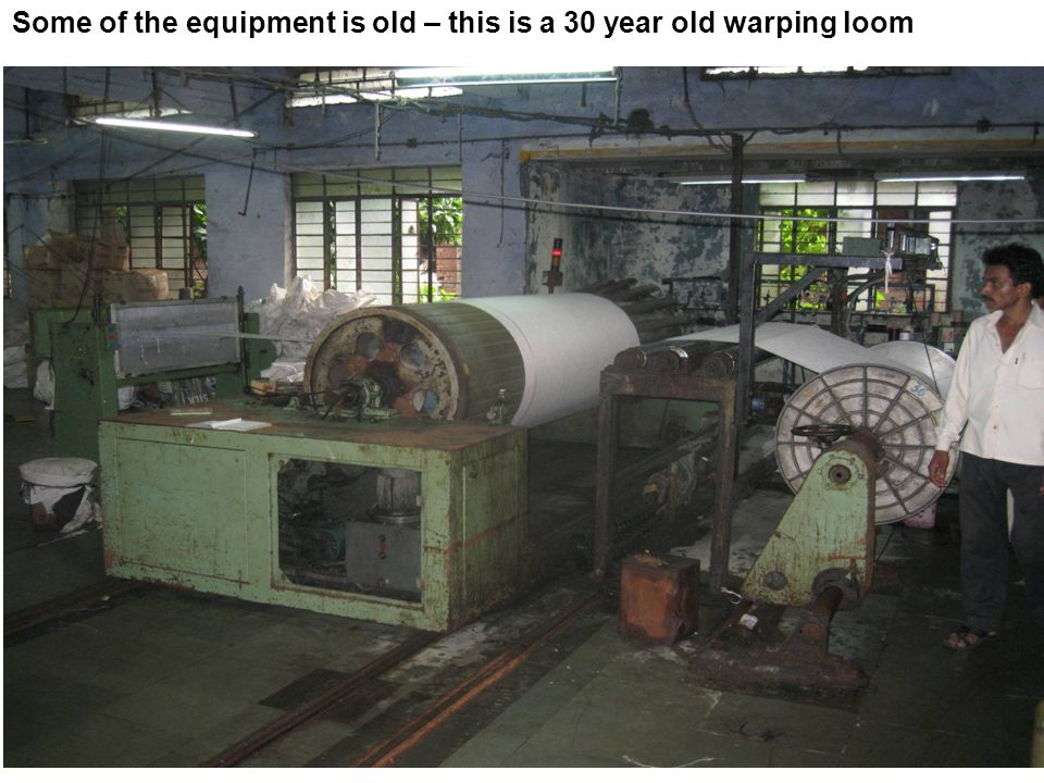 Some of the equipment is old – this is a 30 year old warping loom