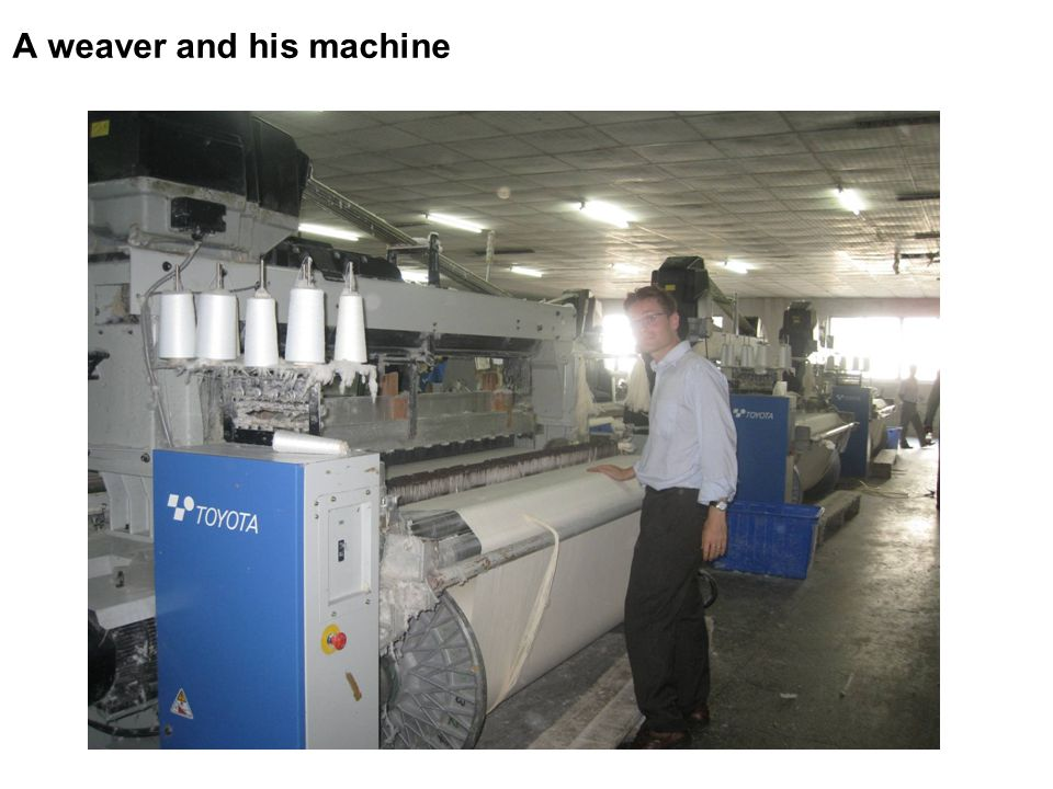 A weaver and his machine