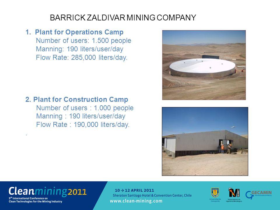 BARRICK ZALDIVAR MINING COMPANY 1.