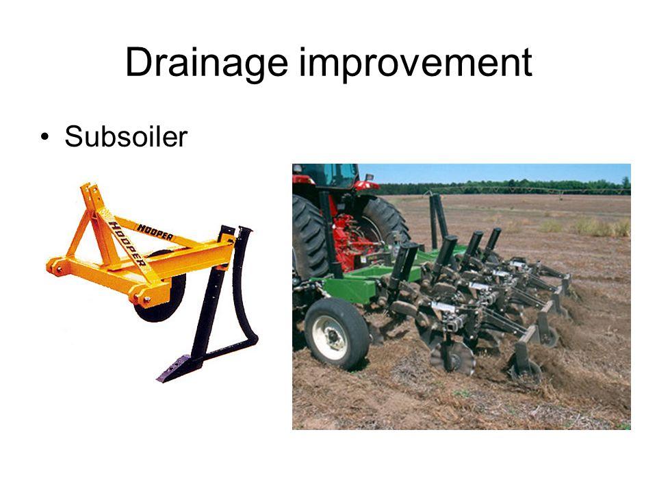 Drainage improvement Subsoiler