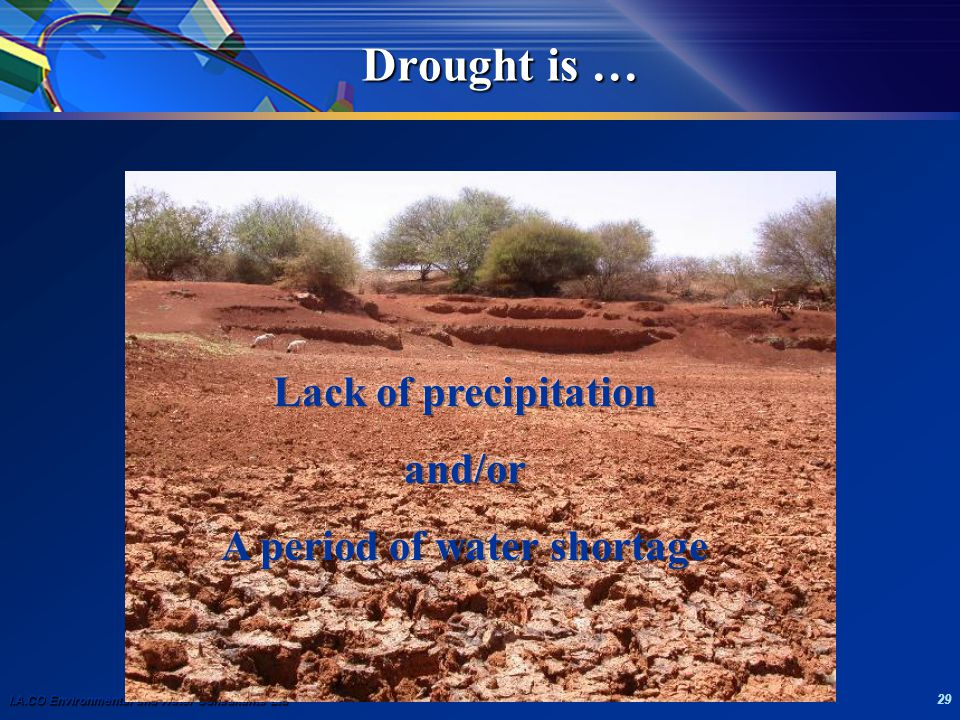 I.A.CO Environmental and Water Consultants Ltd 29 Drought is …