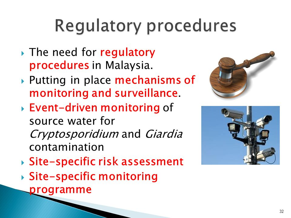  The need for regulatory procedures in Malaysia.