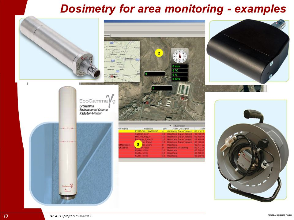 IAEA TC project ROM/6/017 13 Dosimetry for area monitoring - examples