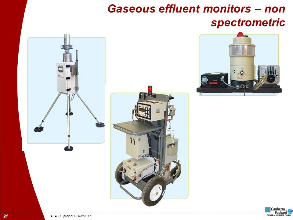 IAEA TC project ROM/6/017 25 Liquid effluent monitors  On-line / in-line