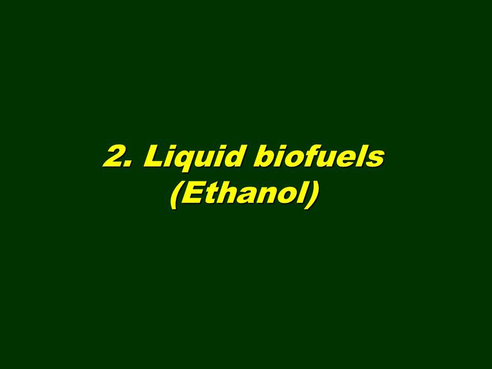 2. Liquid biofuels (Ethanol)