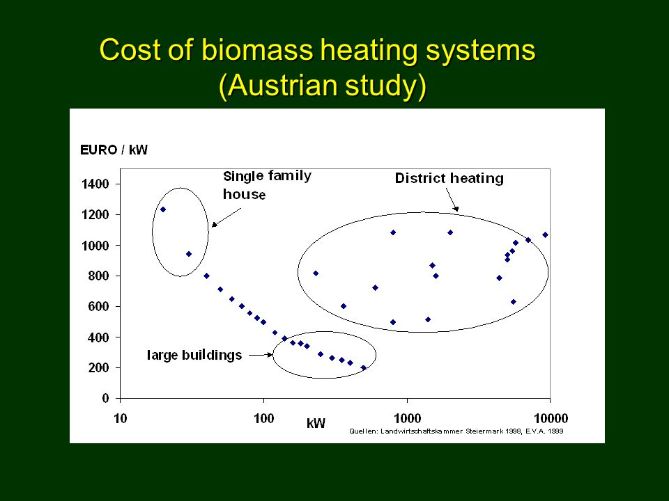 Cost of biomass heating systems (Austrian study)