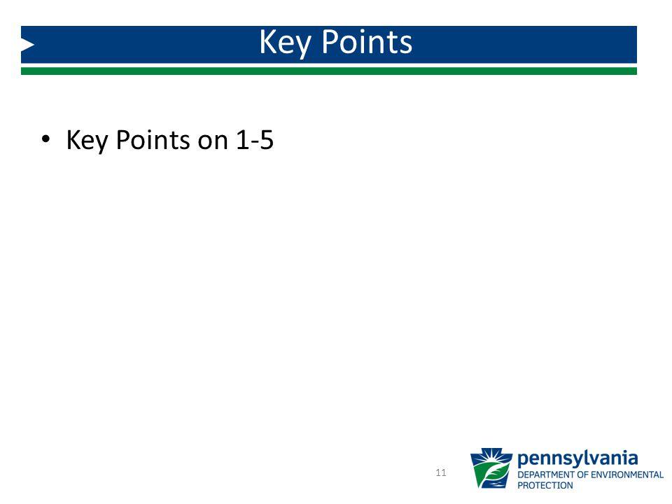 Key Points on 1-5 Key Points 11