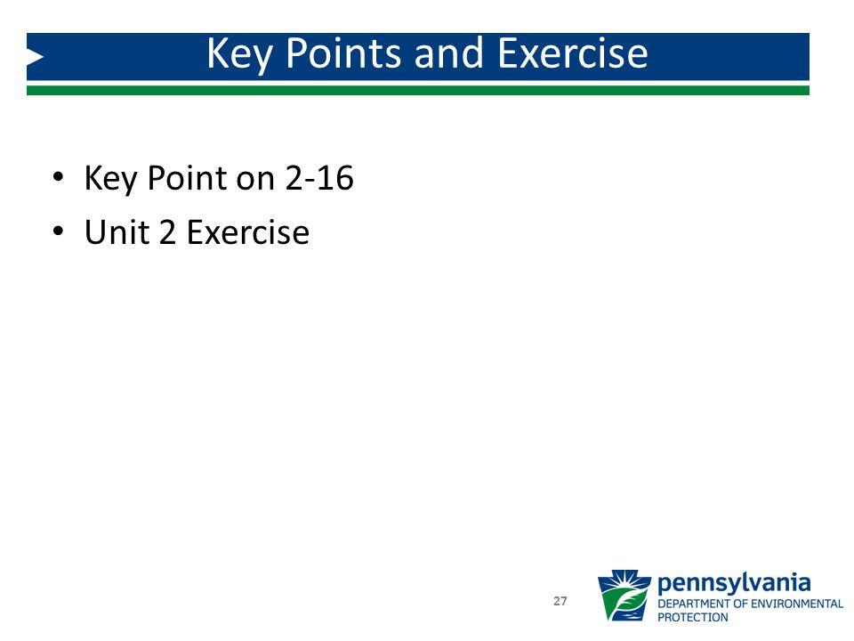Key Point on 2-16 Unit 2 Exercise Key Points and Exercise 27