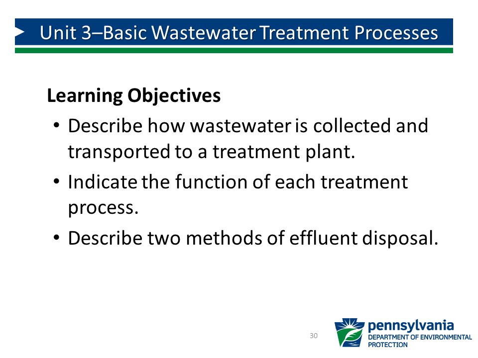 Learning Objectives Describe how wastewater is collected and transported to a treatment plant.
