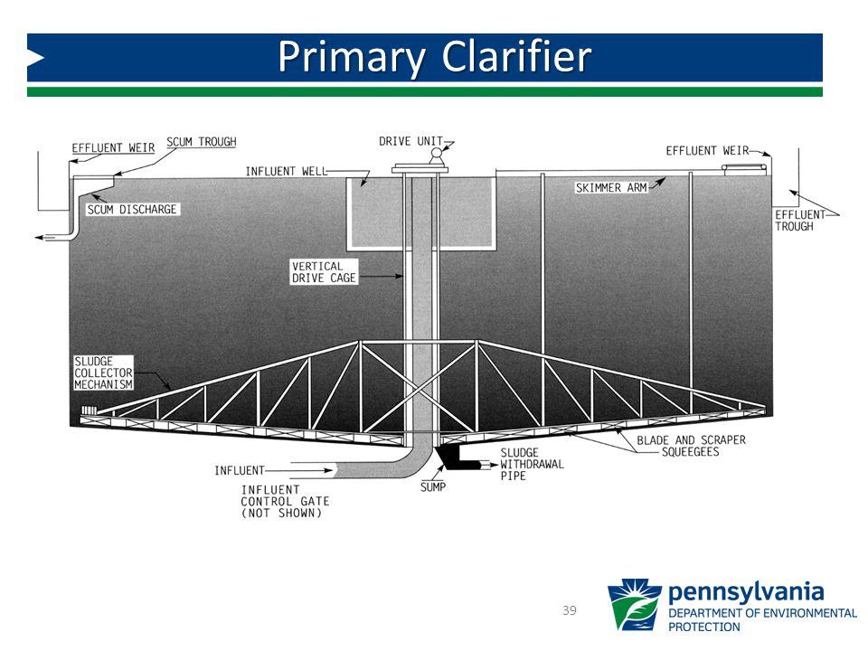 Primary Clarifier 39 Primary Clarifier