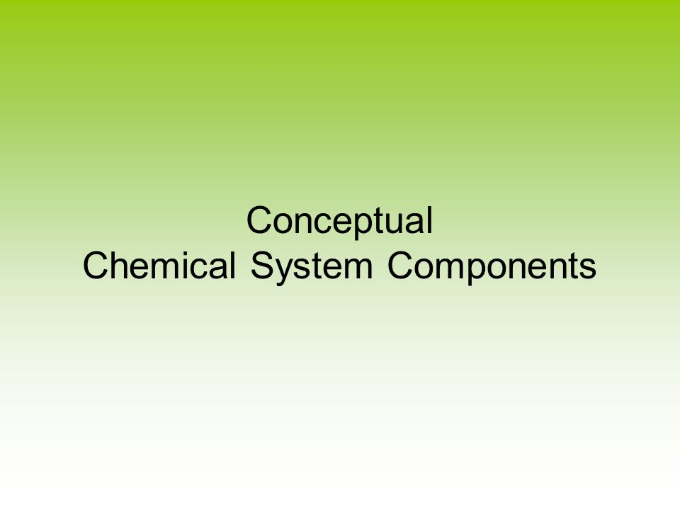 Conceptual Chemical System Components