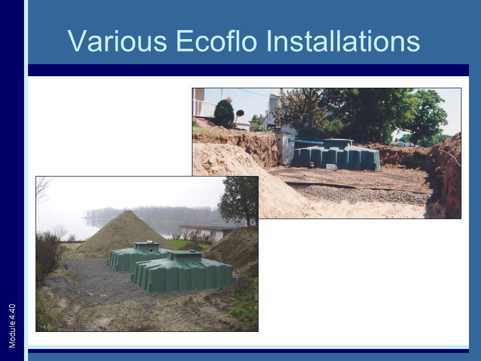 Various Ecoflo Installations Module 4:40