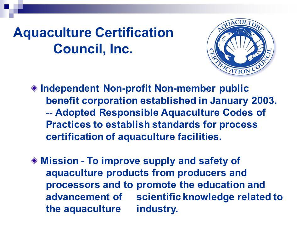 Aquaculture Certification Council, Inc.