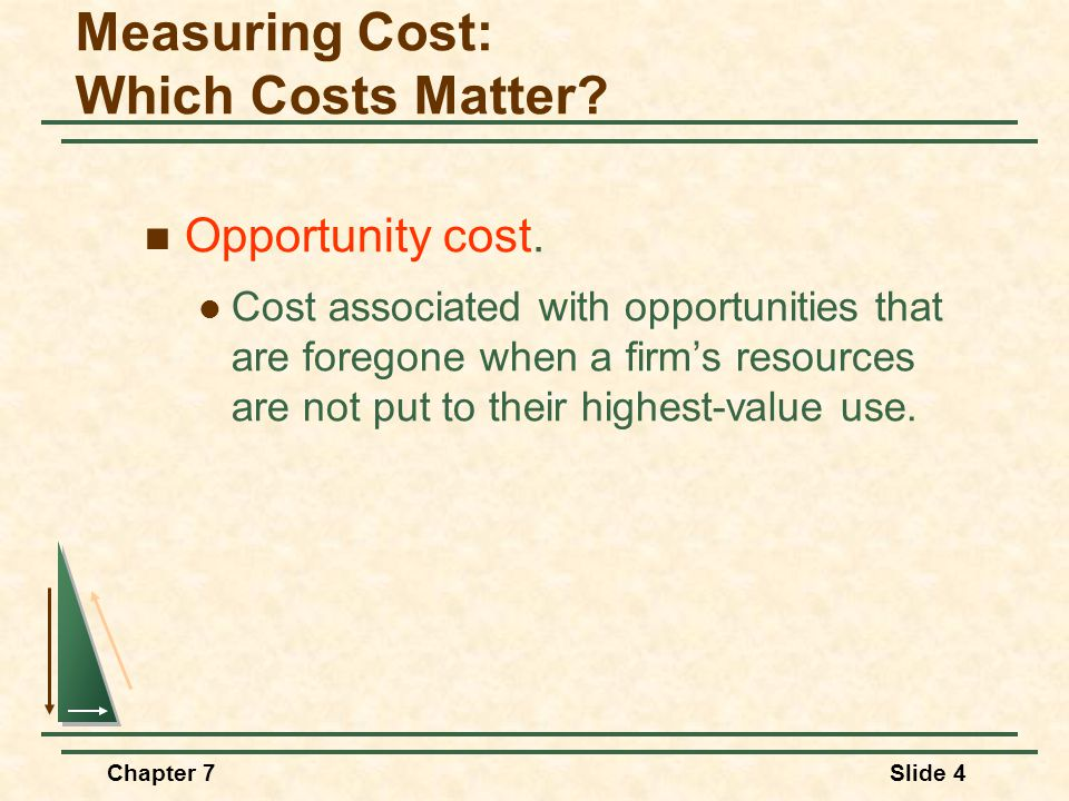 Chapter 7Slide 4 Opportunity cost.