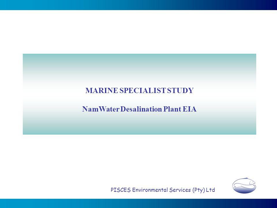 MARINE SPECIALIST STUDY NamWater Desalination Plant EIA PISCES Environmental Services (Pty) Ltd