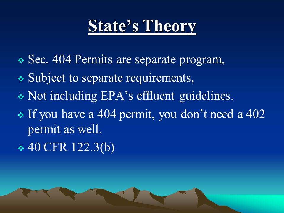 State's Theory  Sec.