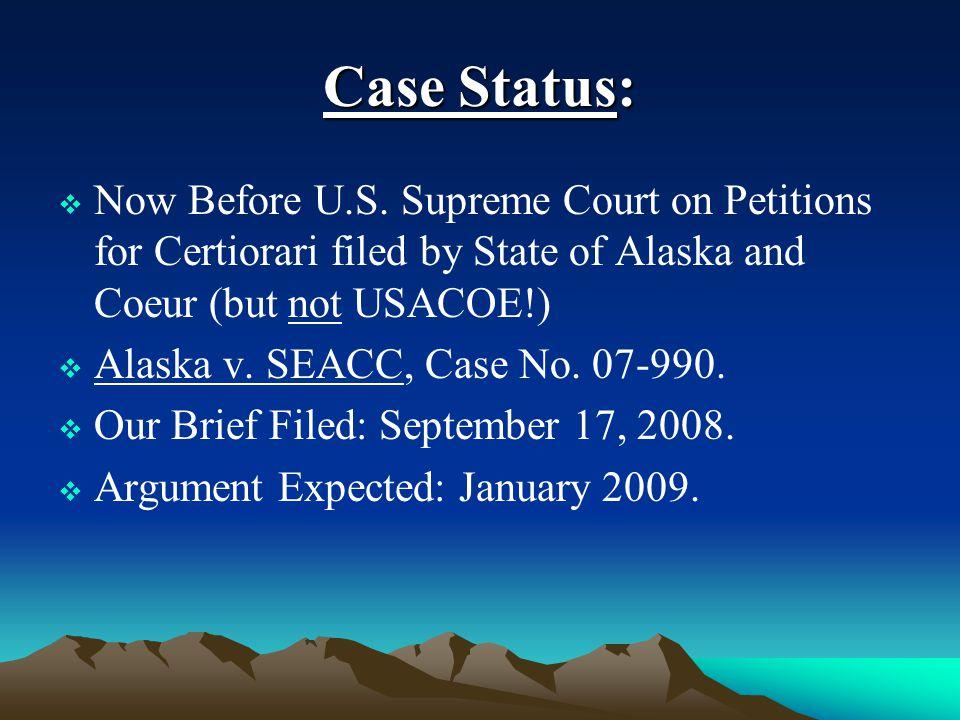 Case Status:  Now Before U.S.