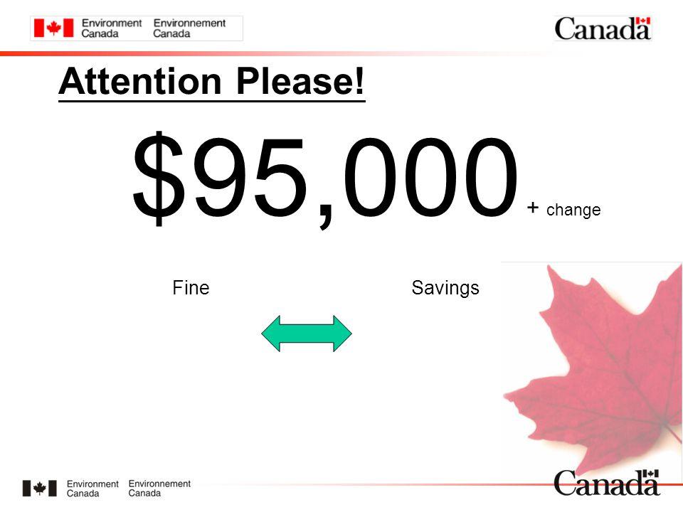 Attention Please! $95,000 + change FineSavings
