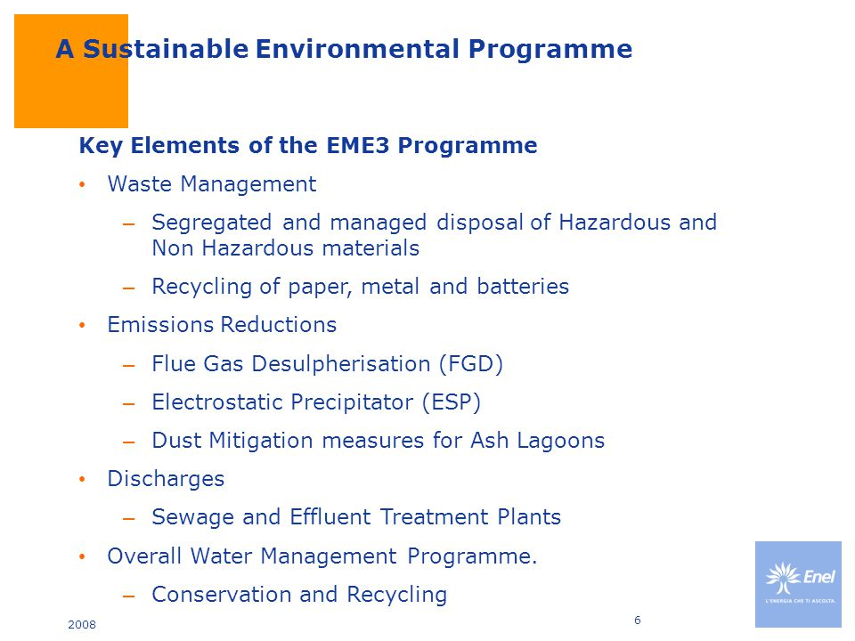 2008 7 A Sustainable Environmental Programme Waste Management