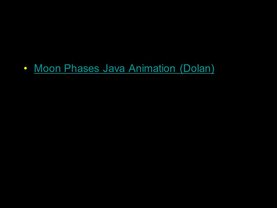 Moon Phases Java Animation (Dolan)