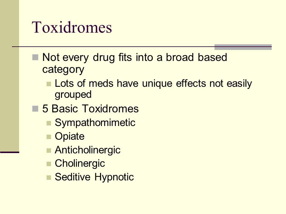 Toxidrome: Anticholinergic