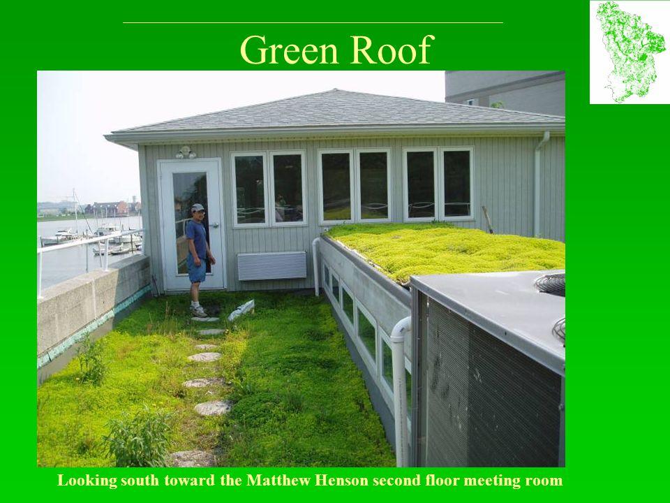 Green Roof Looking south toward the Matthew Henson second floor meeting room