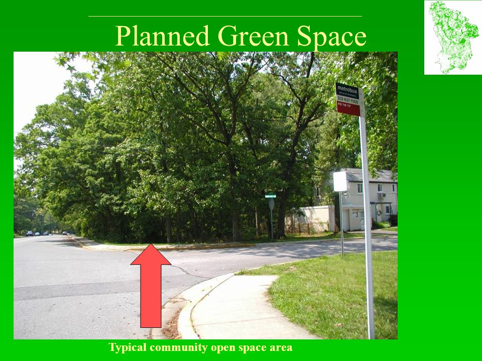 Planned Green Space Typical community open space area