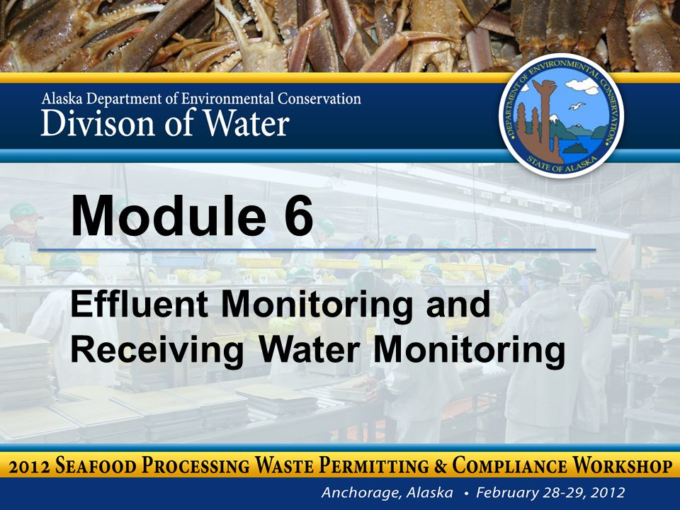 Wes Harvey DEC Environmental Program Specialist III Module 6 – Effluent Monitoring & Receiving Water Monitoring 2