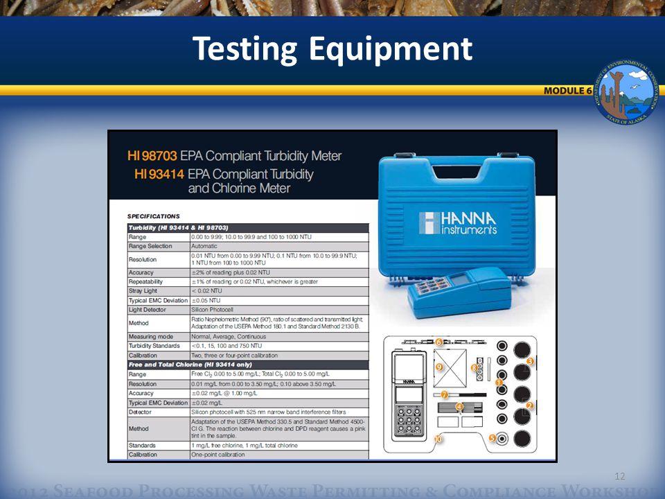 Testing Equipment 12