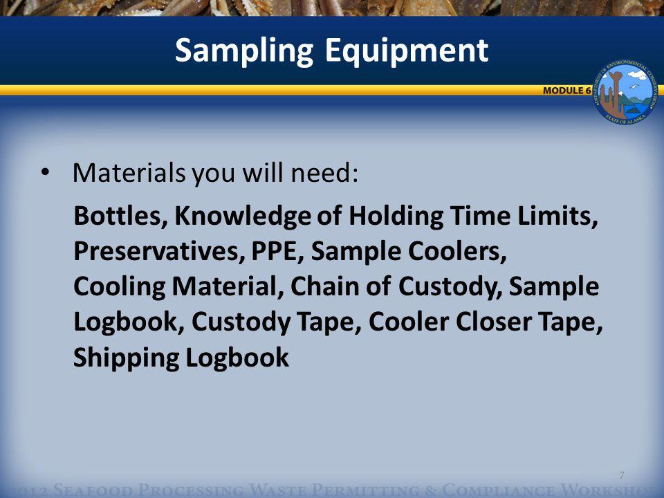 Sampling Equipment Representative Sampling: A.Grab B.