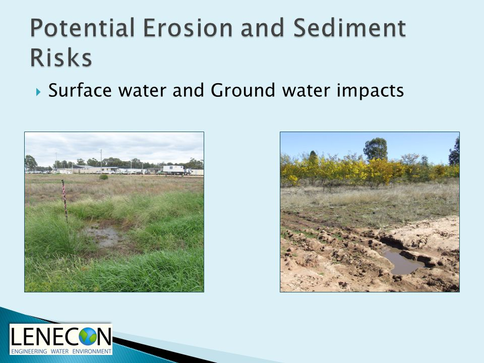  Surface water and Ground water impacts