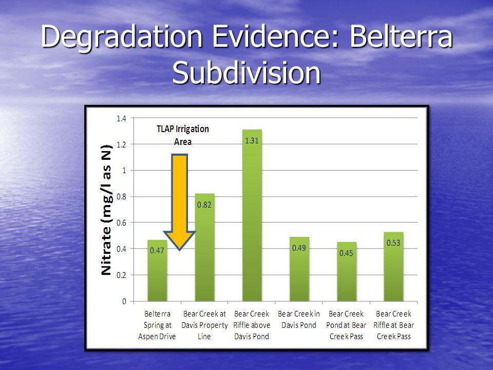 Degradation Evidence: Belterra Subdivision