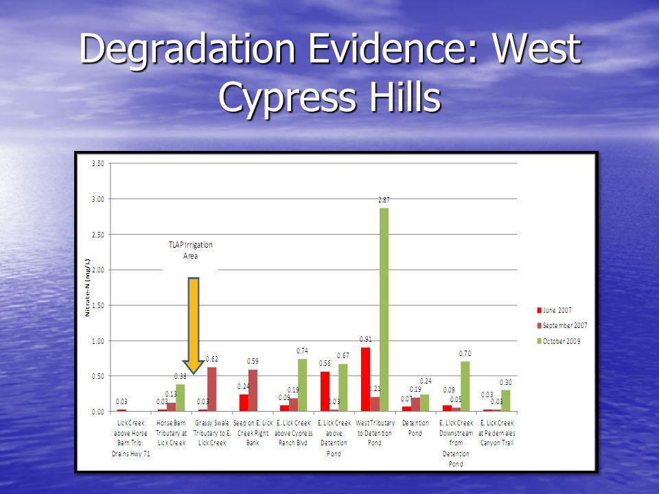 Degradation Evidence: West Cypress Hills