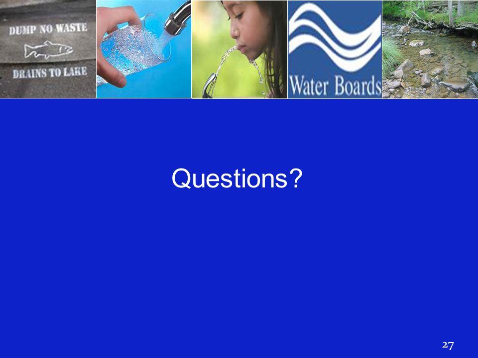 Questions? 27 Questions?