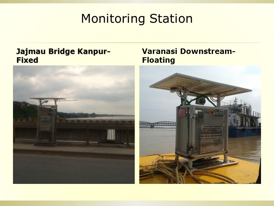 Monitoring Station Jajmau Bridge Kanpur- Fixed Varanasi Downstream- Floating