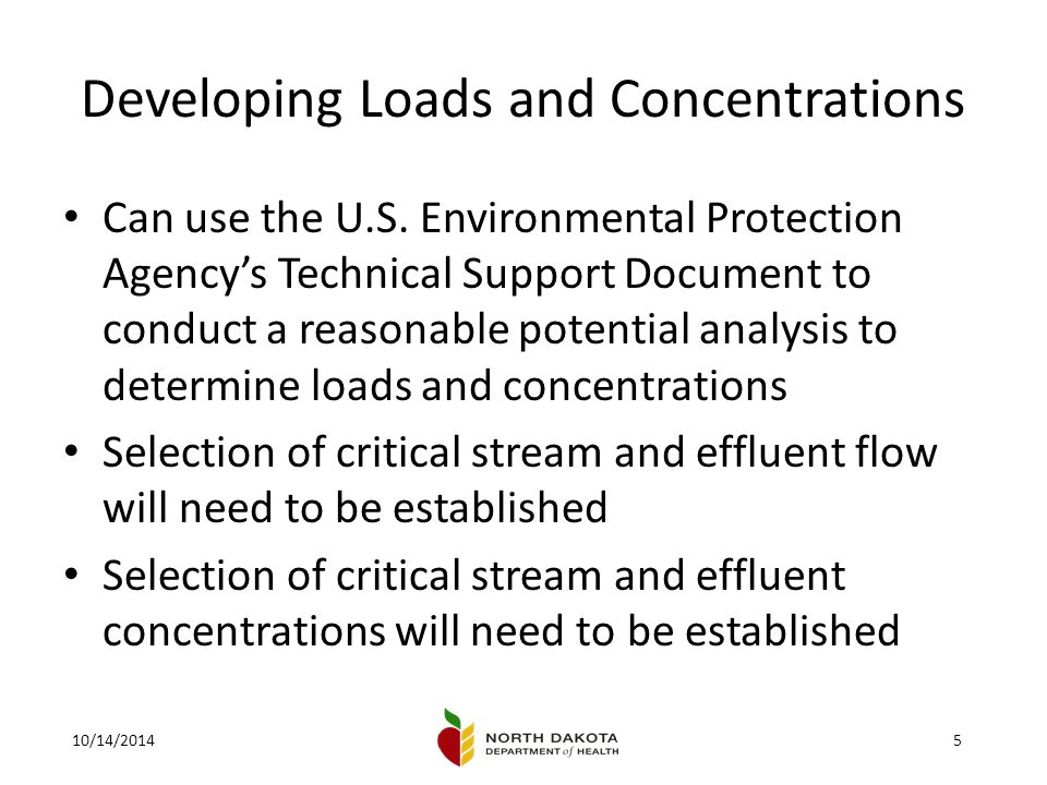 10/14/20145 Developing Loads and Concentrations Can use the U.S.