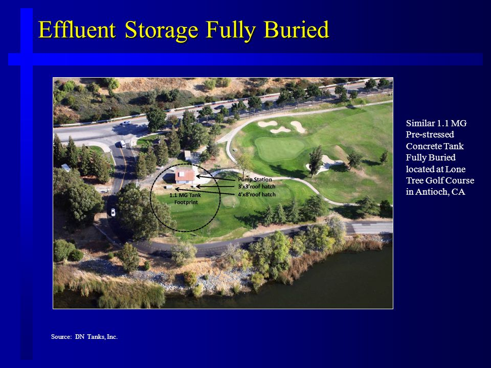 Effluent Storage Fully Buried Source: DN Tanks, Inc.