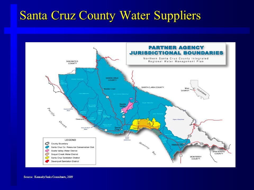 Santa Cruz County Water Suppliers Source: Kennedy/Jenks Consultants, 2009