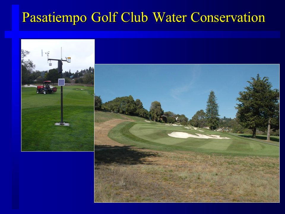 Pasatiempo Golf Club Water Conservation