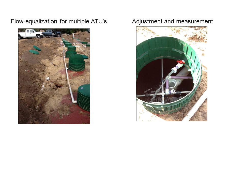 Flow-equalization for multiple ATU's Adjustment and measurement