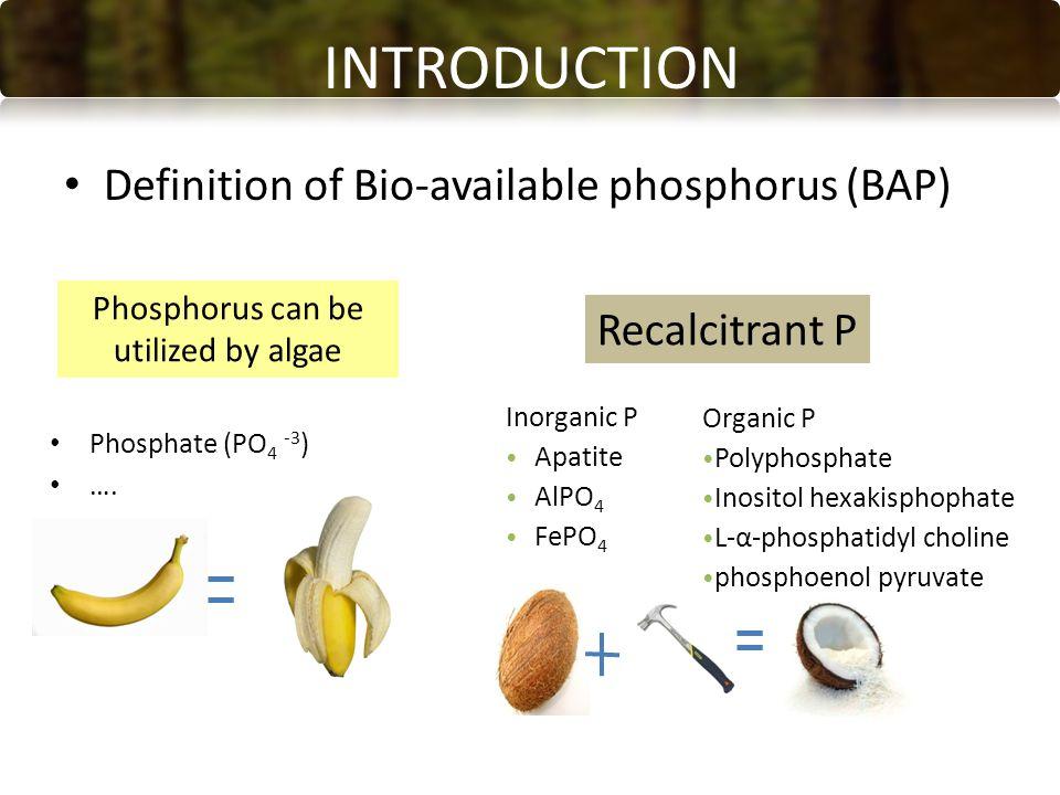Phosphate (PO 4 -3 ) ….
