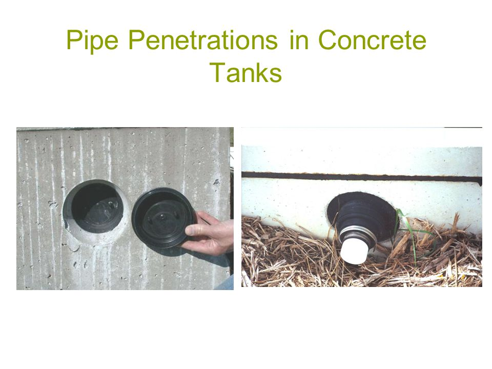 Pipe Penetrations in Concrete Tanks