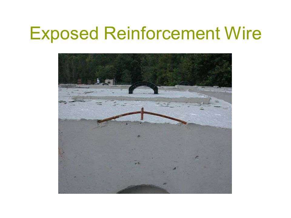 Exposed Reinforcement Wire