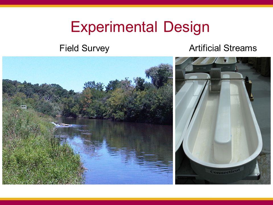 Experimental Design Artificial Streams Field Survey