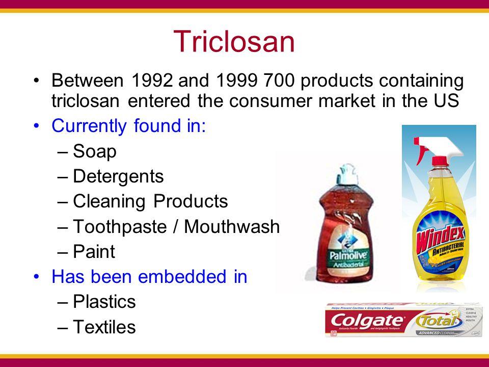 Artificial Streams: Triclosan Resistance Triclosan Addition