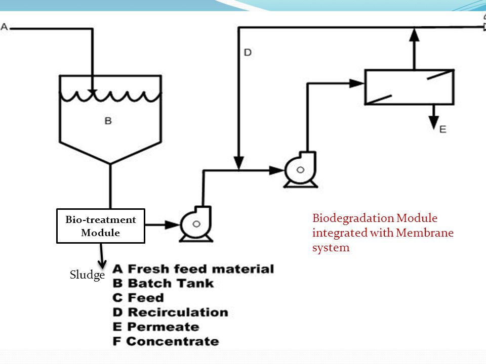 Bio-treatment Module Sludge Biodegradation Module integrated with Membrane system
