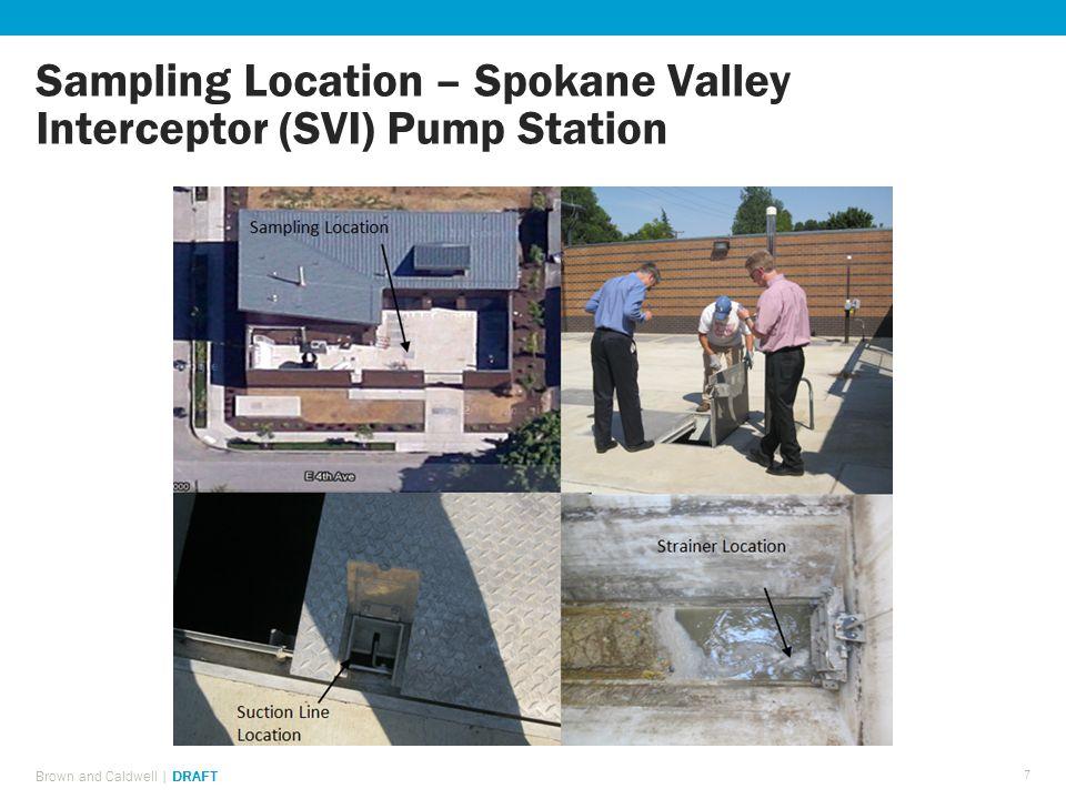 Sampling Location – Spokane Valley Interceptor (SVI) Pump Station Brown and Caldwell | DRAFT 7
