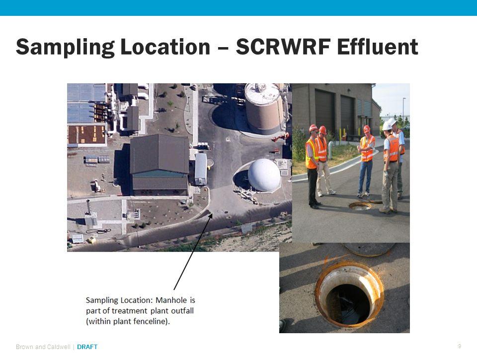 Sampling Location – SCRWRF Effluent Brown and Caldwell | DRAFT 9